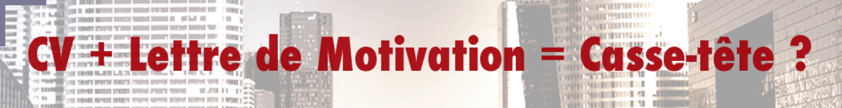 cv   lettre de motivation   casse