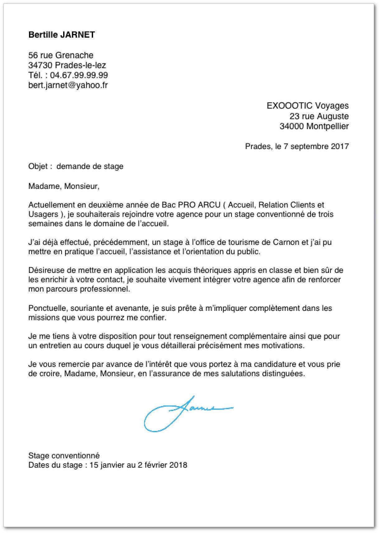 exemple de cv stage bac pro Exemple de lettre de motivation pour un stage en bac pro exemple de cv stage bac pro